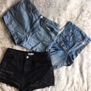 Forever 21 Shorts, Size 27, 28, and 30